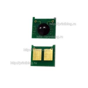 Чип картриджа HP CE740A для HP LaserJet PRO CP5225, 5220
