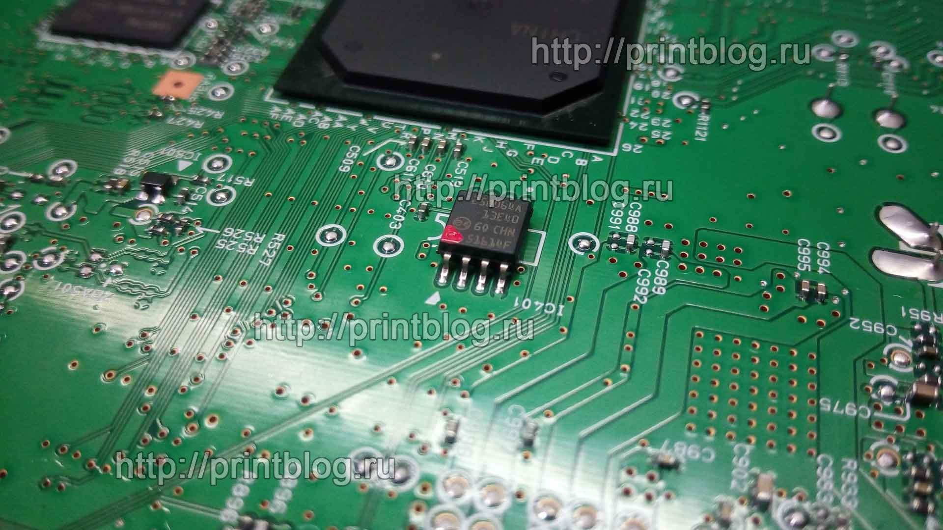 Canon PIXMA iX6840 сброс ошибки 1700 или 5B00. Сброс памперса