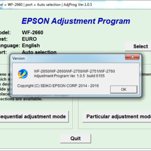 Adjustment program Epson WF-2650, WF-2660, WF-2750, WF-2751, WF-2760 (Сброс памперса)
