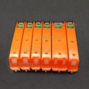 Картриджи (ПЗК, ДЗК) для Epson TS8140, TS8240, TS8340, TS9140 с чипами (6 цветов) (PGI-480-CLI-481)