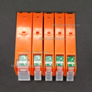 Картриджи (ПЗК, ДЗК) для Epson TR7540, TR8540, TS6140, TS704 с чипами (5 цветов) (PGI-480-CLI-481)