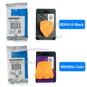 Комплект печатающих головок M0H51A (bфlack) и M0H50A (color) для HP GT5810, GT5820