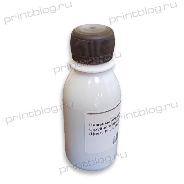 Пищевые чернила для струйного принтера Canon, Epson, HP, Black (черные), 100г