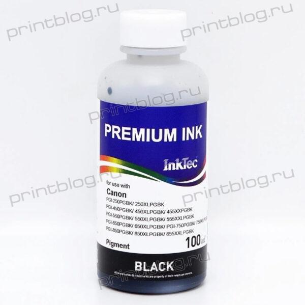 Чернила (краска) Canon InkTec C5050-100MB, Black (черный), Pigment (пигментные), 100 мл.