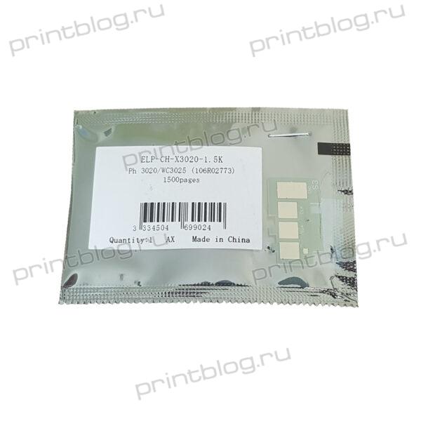 Чип картриджа Xerox 106R02773 для Xerox Phaser 3020, 3025 на 1500 страниц