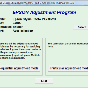 Adjustment program Epson PX730WD (Сброс памперса)