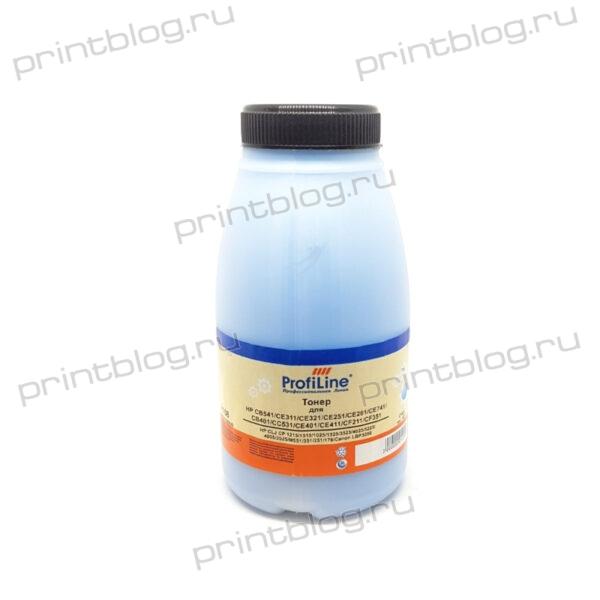 Тонер ProfiLine для HP CLJ CP1215, вес 45 грамм, Химический, Cyan (Синий, голубой)