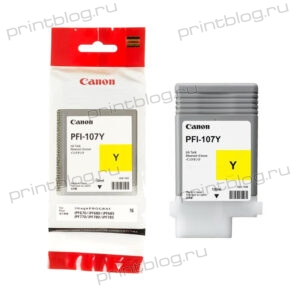 Картридж Canon PFI-107 Yellow 130 мл. для iPF670, iPF680, iPF685, iPF770, iPF780, iPF785