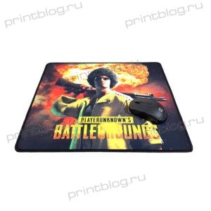 Коврик для мышки игровой G6 размер 395x350x3 мм (BattleGounds orange)