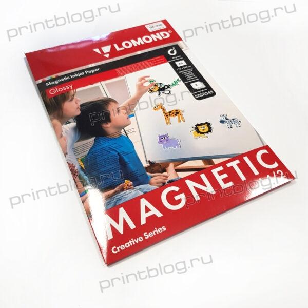 Фотобумага Lomond магнитный, глянцевая, A4 (210x297мм), 660 гр.м2, 2л (2020345) для струйной печати