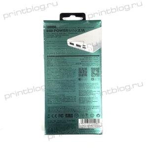 Внешний АКБ Power Bank REMAX Bodi Series 10000 mAh 2хUSB RPP-149 2,1 А (белый)