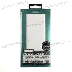 Внешний АКБ Power Bank REMAX Bodi Series 10000 mAh 2хUSB RPP-149 2,1 А (белый)