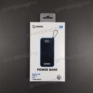 Внешний АКБ Power Bank ZARMANS L-103 10000 mAh 2xUSB