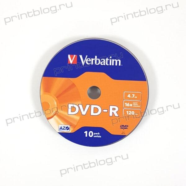 Диск DVD-R Verbatim 4,7Gb 16x 1шт. (43729)