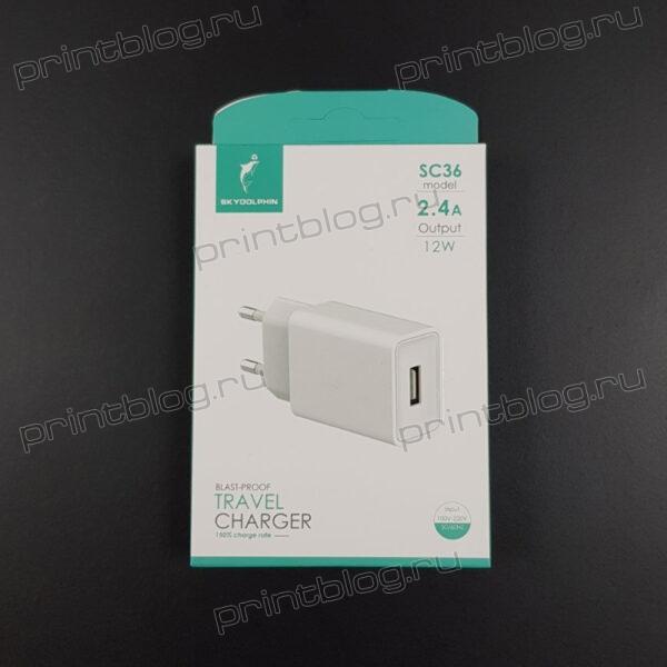 Зарядное устройство Dolphin 5V 2.4A 12W (SC36)