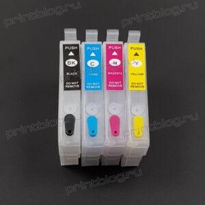 Картриджи (ПЗК, ДЗК) T1631-T1634 для Epson WF 2010, 2510, 2520
