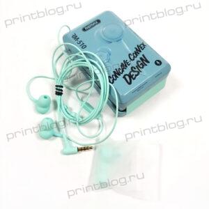 Наушники Remax RM-510 внутриканальные (металл. бокс)