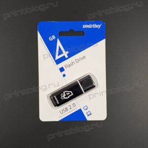 Флеш-накопитель Smartbuy 4Gb USB2.0 Glossy Черный (SB4GBGS-K)