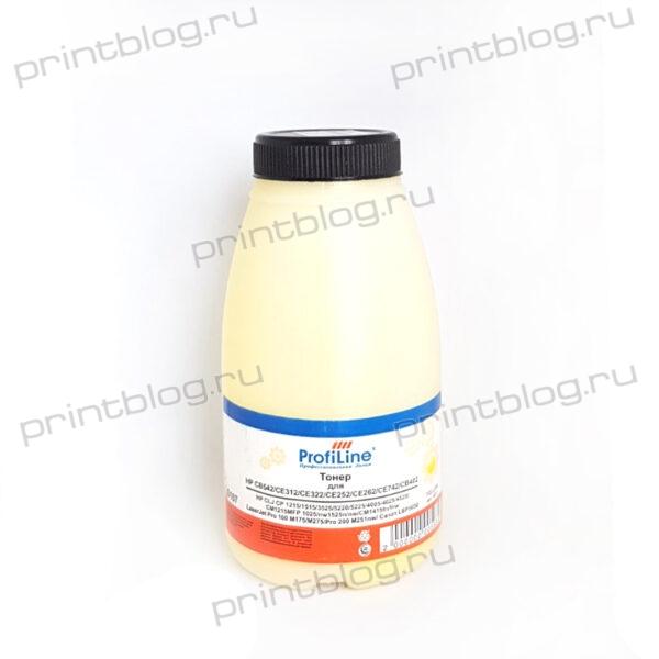 Тонер HP CLJ CP1215 Yellow фл. 45г. Profiline CB542, CE312, CE322