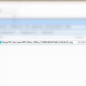 Дамп TC58BVG0S3HTA00 (файл для программатора) HP Color Laser MFP 178nw, 179fnw версии V3.82.01.07