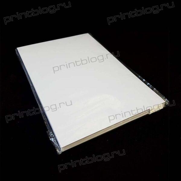 Пластик для печати на струйных принтерах, белый, А4, 10 л.