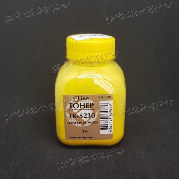 Тонер Kyocera P5021 Yellow 35 г. фл. Булат s-Line TK-5230 (M5521) (EAKYEP5021040)