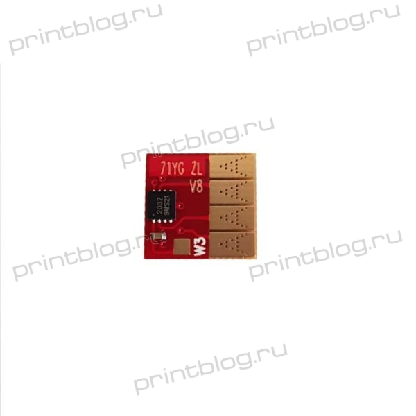 Чип для СНПЧ и ПЗК HP Designjet T120520 Yellow UNItech (711)