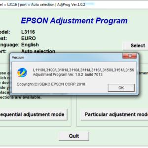 Adjustment program Epson L1110, L3100, L3101, L3110, L3111, L3116, L3150, L3151, L3156, L5190 (Сброс памперса)