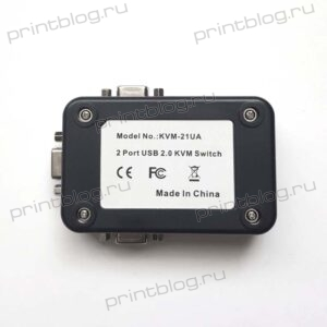 KVM переключатель KVM21UA USB, входы VGA+USB(type B), выход VGA+3xUSB(type A) + 2 провода VGA+USB