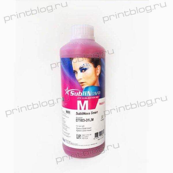 Сублимационные чернила (краски) InkTec DTI03-01LM Magenta (розовые) 1L SubliNova Smart