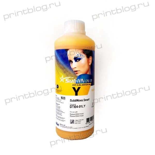 Сублимационные чернила (краски) InkTec DTI04-01LY Yellow (желтые) 1L SubliNova Smart