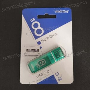 Флеш-накопитель Smartbuy 8Gb USB2.0 Paean Зеленый (SB8GBGS-G)